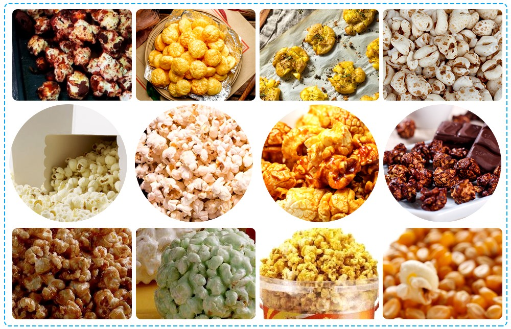APPLICATION OF AUTOMATIC LARGE POPCORN MAKING MACHINE