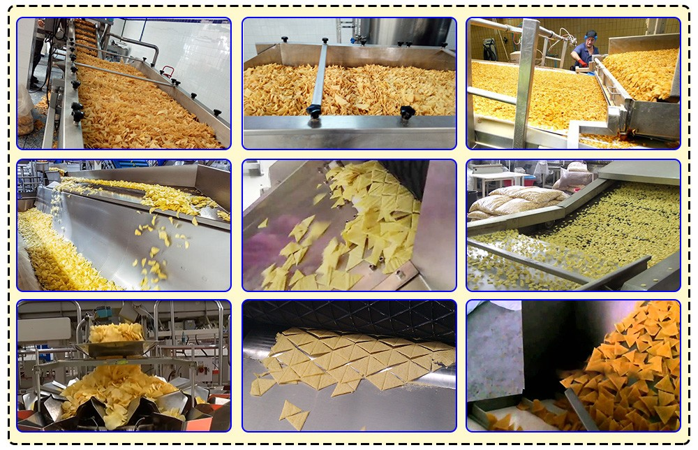 CORN TORTILLA CHIPS MACHINE WORK SITE