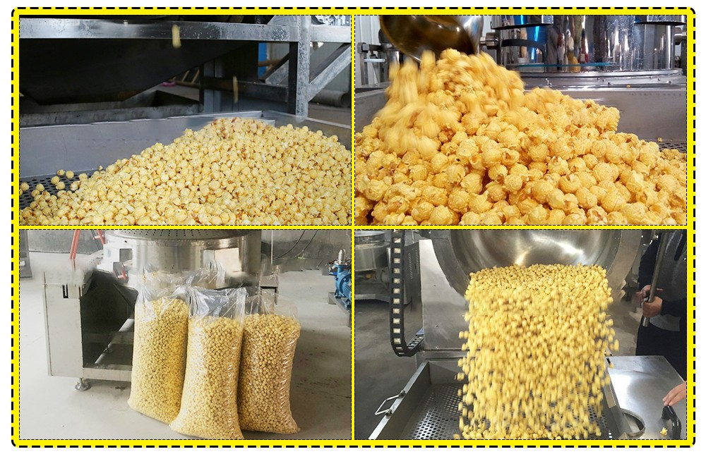 automatic large popcorn making machine plant